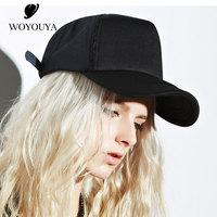 WOYOUYA Baseball cap women summer outdoor Cap female Korean version baseball cap breathable pure black baseball cap women B1718