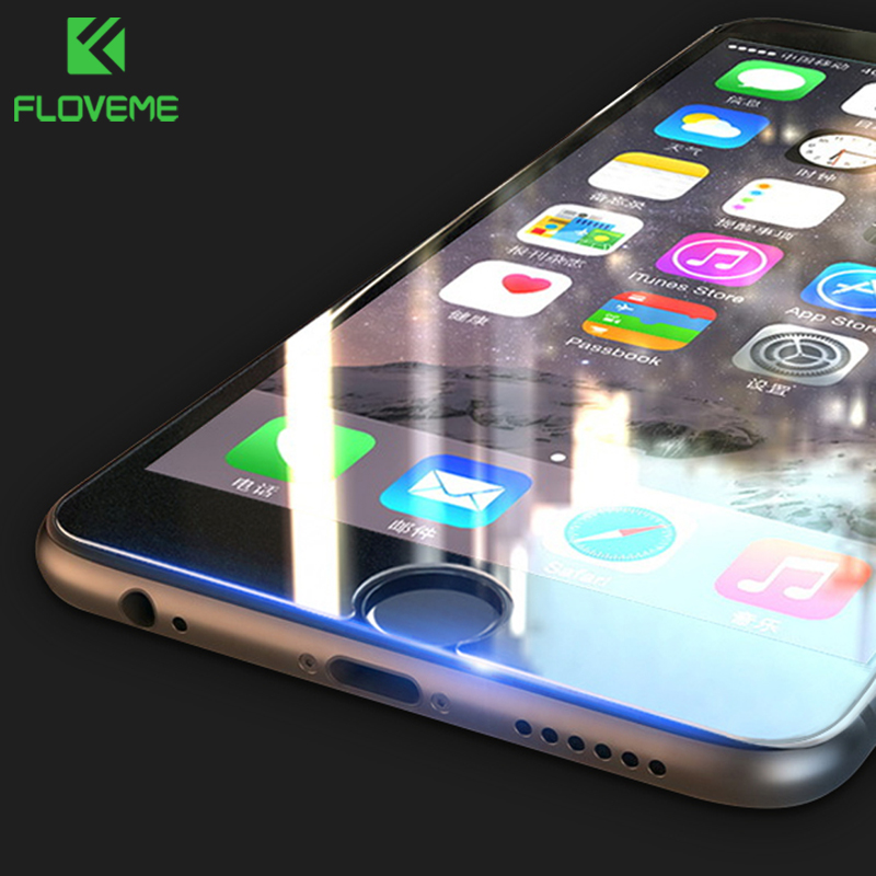 FLOVEME Screen Protector For iPhone 5S 5 6 SE Tempered Glass 9H 0.33mm Protective Glass For iPhone 8 7 6 6s 8 Plus Ultra Thin