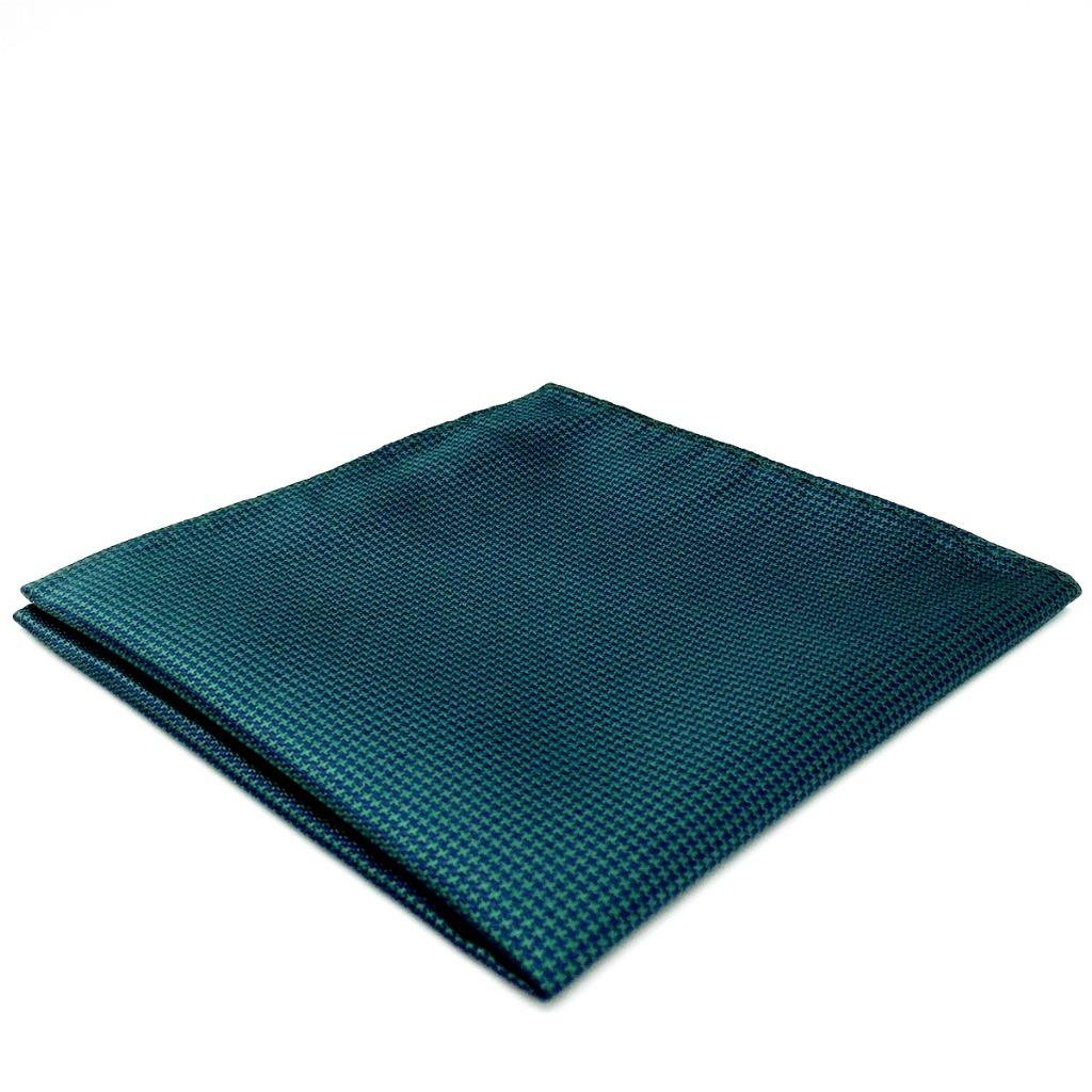 YH28 Mens Pocket Square Turquoise Solid Silk Classic Jacquard Woven Fashion Handkerchief
