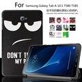Для Samsung Galaxy Tab 10.1 T585 T580 T580N Таблетки funda случаи цвет Окрашенные PU Кожаный Чехол Откидная Крышка Shell + Пленка + Ручка