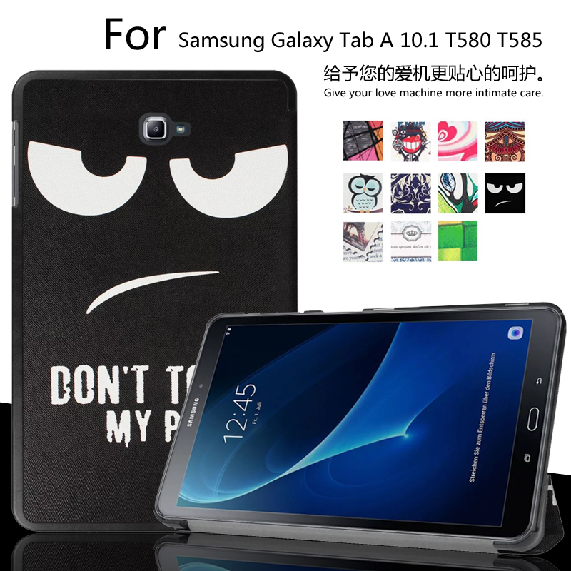 For samsung galaxy tab a a 10 1 t585 t580 t580n tablet funda funda cases color painted pu - Fundas tablet 10 1 samsung ...