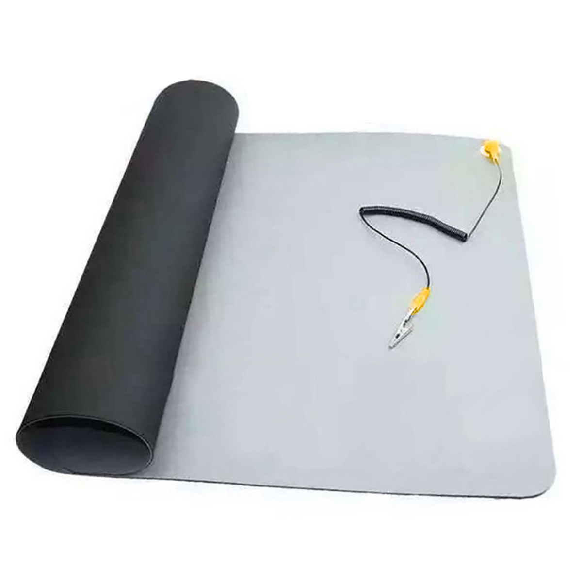 1pc 70*50 cm Black Desktop Anti Static ESD Grounding Mat Silicone Pad with Mayitr Cord for Phone PC Laptop Repair Maintenance anti static elastic finger cots stalls yellow size l 50 pcs