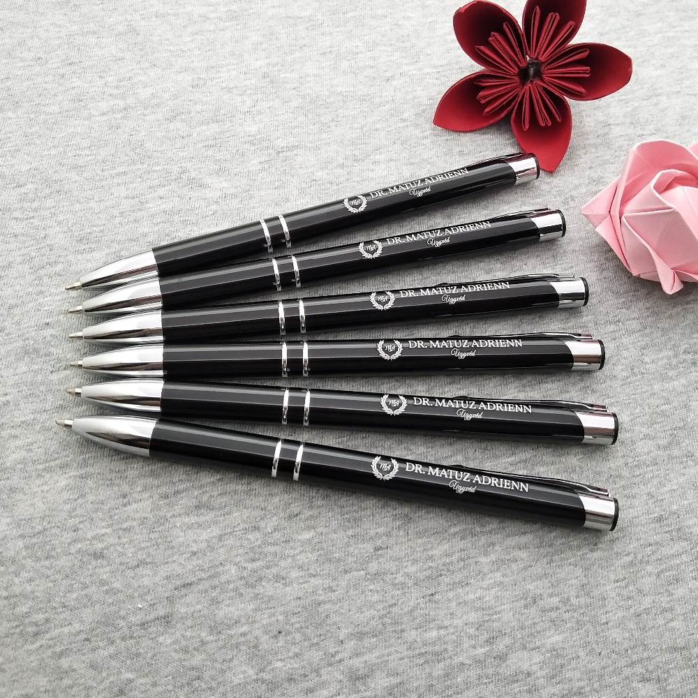 Wholesale personalized Wedding favors free logo design free logo customized 10 colors classical metal pen for your choose in Party Favors from Home Garden