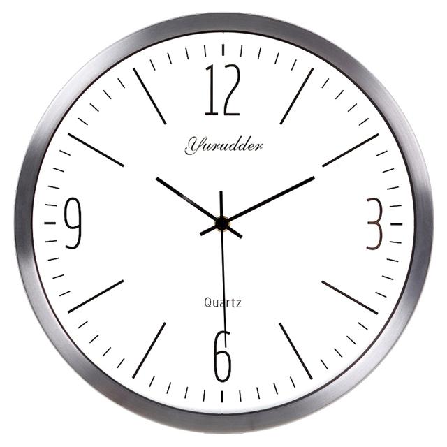 Newest 14 Inches Metal Frame Modern Fashion Decorative Round Wall clock
