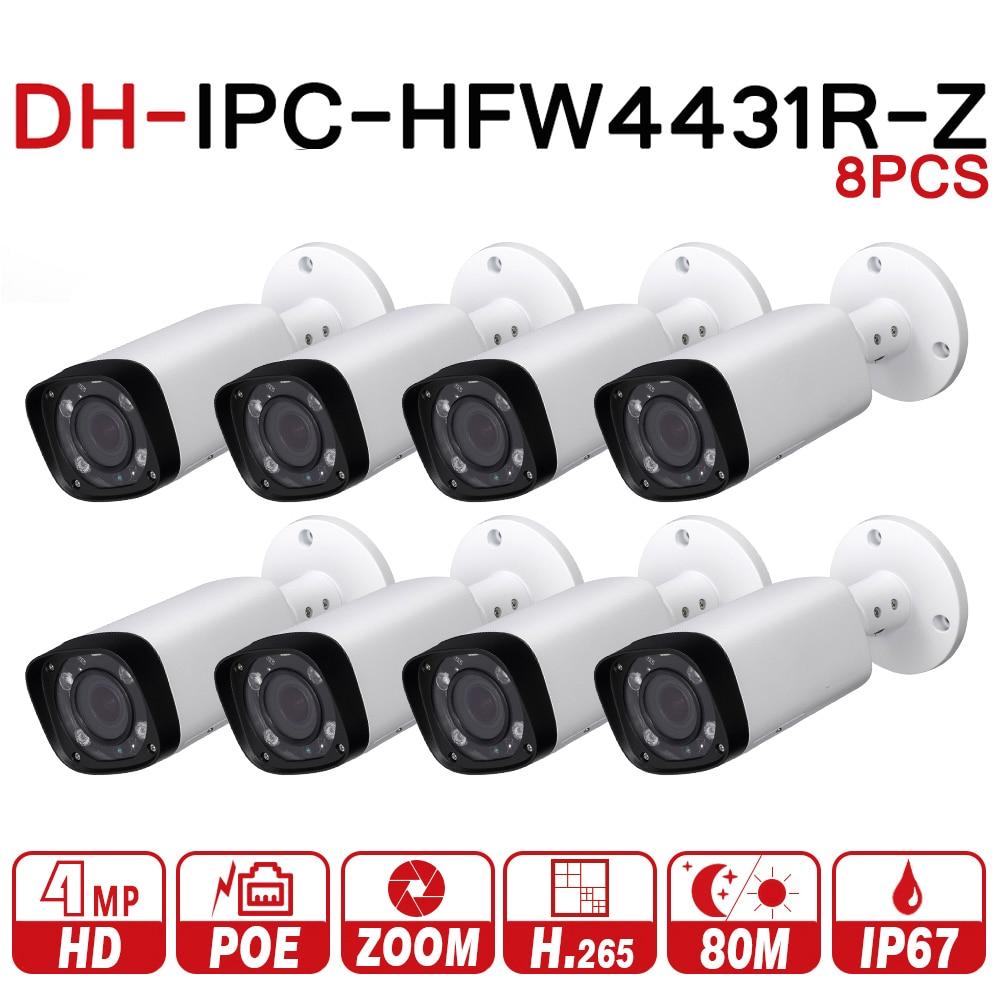 DH IPC-HFW4431R-Z 8 шт./лот 8mp сети IP Камера 2,7-12 мм VF объектив Автофокус 80 м ИК Пуля безопасности POE для видеонаблюдения Системы