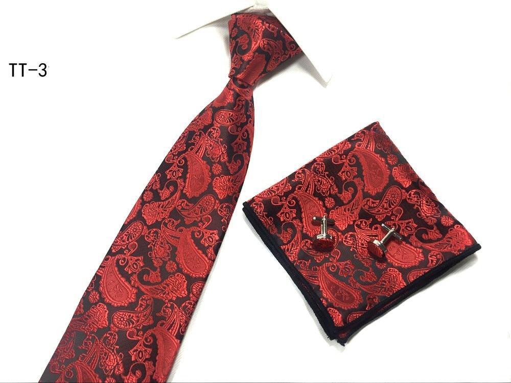 moda qalstuk dəsti 3 santimetr boyunbağı əl çantası cib kvadrat - Geyim aksesuarları - Fotoqrafiya 4