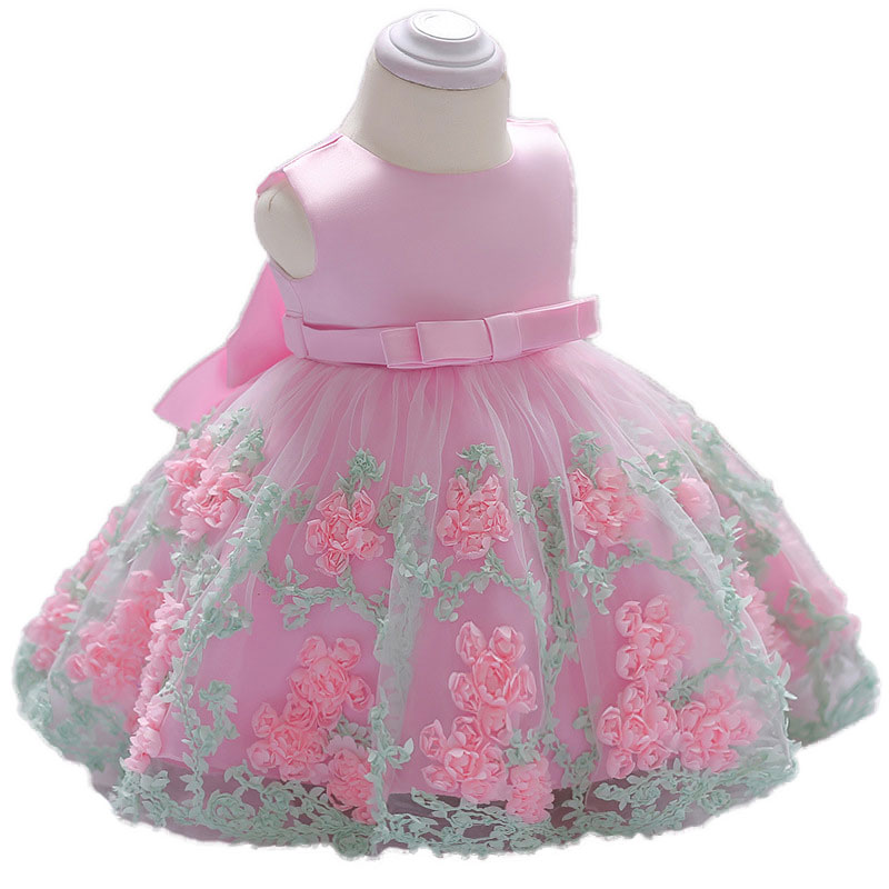 Toddler Baby Girls Princess 1st Birthday Flower Party Dress Clothing Kids Christening Baptism Dresses Vestidos Newborn Infant шины нижнекамск kама euro lcv 131 195 70 r15c 104 102r