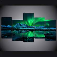 Hd Printed Aurora Borealis Painting On Canvas Room Decoration Print Poster Picture Canvas Free Shipping W/91431(China)
