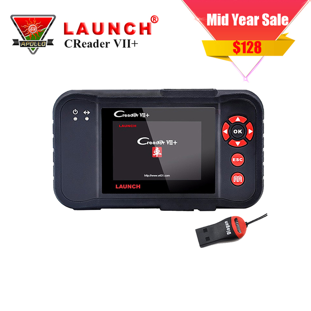 Best Offers LAUNCH X431 Creader VII+ Creader 7 plus Auto Scanner Tool ABS,SRS,ENG Diagnostic tool Same as like Crp 123 Internet free Update