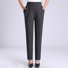 2018 New Fashion Spring Atutumn Middle Aged Women Elastic waist Straight Pants Mother Casual Plus Size XL-5X Trousers C541