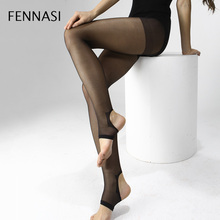 FENNASI/летние женские колготки с открытым носком и стремя; пикантные тонкие прозрачные колготки; женские модные тонкие колготки с широким шаговым швом; эротические колготки
