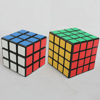 2pcs Magic Cube Toy Set Speed Cube With Matter Stickers Educational Puzzle Cube 3x3x3 4x4x4 Kids