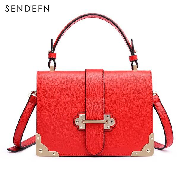 Sendefn Nova Chegada Bolsas De Luxo Mulheres Sacos de Designer Brilhante Hardware Moda Pequenas Bolsas Bolsas & Bolsas Crossbody 7197-68