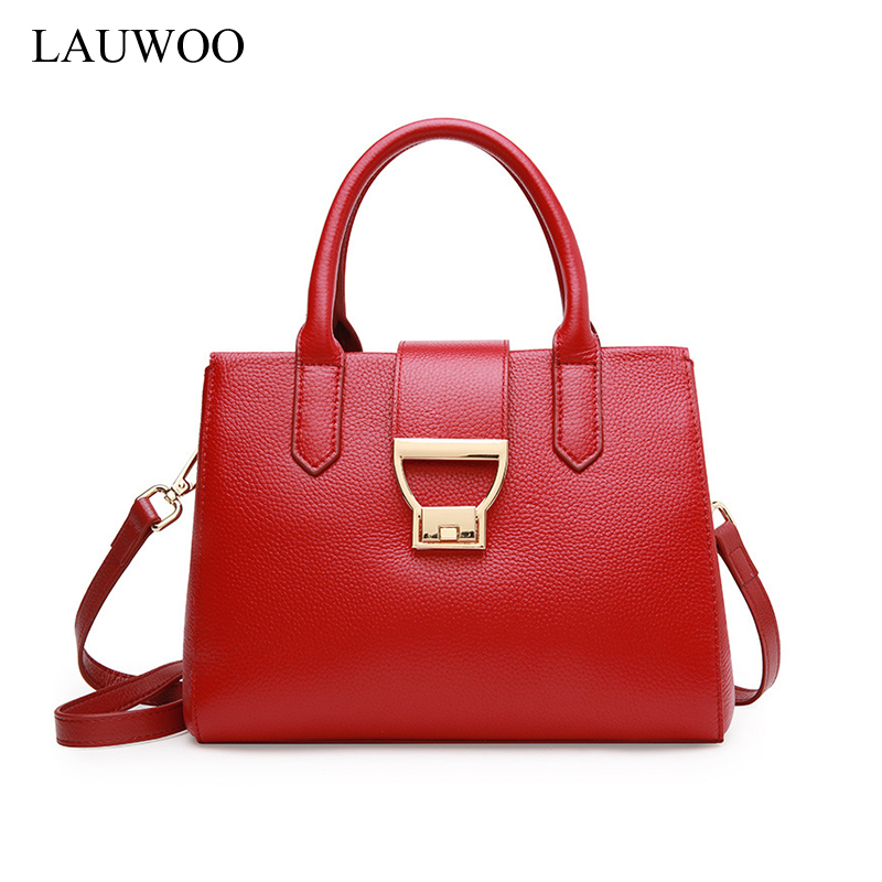 LAUWOO  fashion women Elegant Genuine Leather messenger bag female high quality crossbody bags ladies designer handbag famous 2017 hot selling high quality genuine leather women messenger bags female day clutches with hand rope fashion crossbody bags