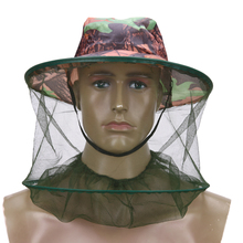 Camouflage Mosquito Net Cap Insects Head Cover