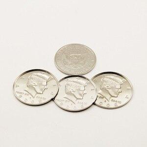 1 комплект, диаметр 5,6 см, четыре монеты в одну большую половину долларов, волшебные фокусы, волшебный трюк