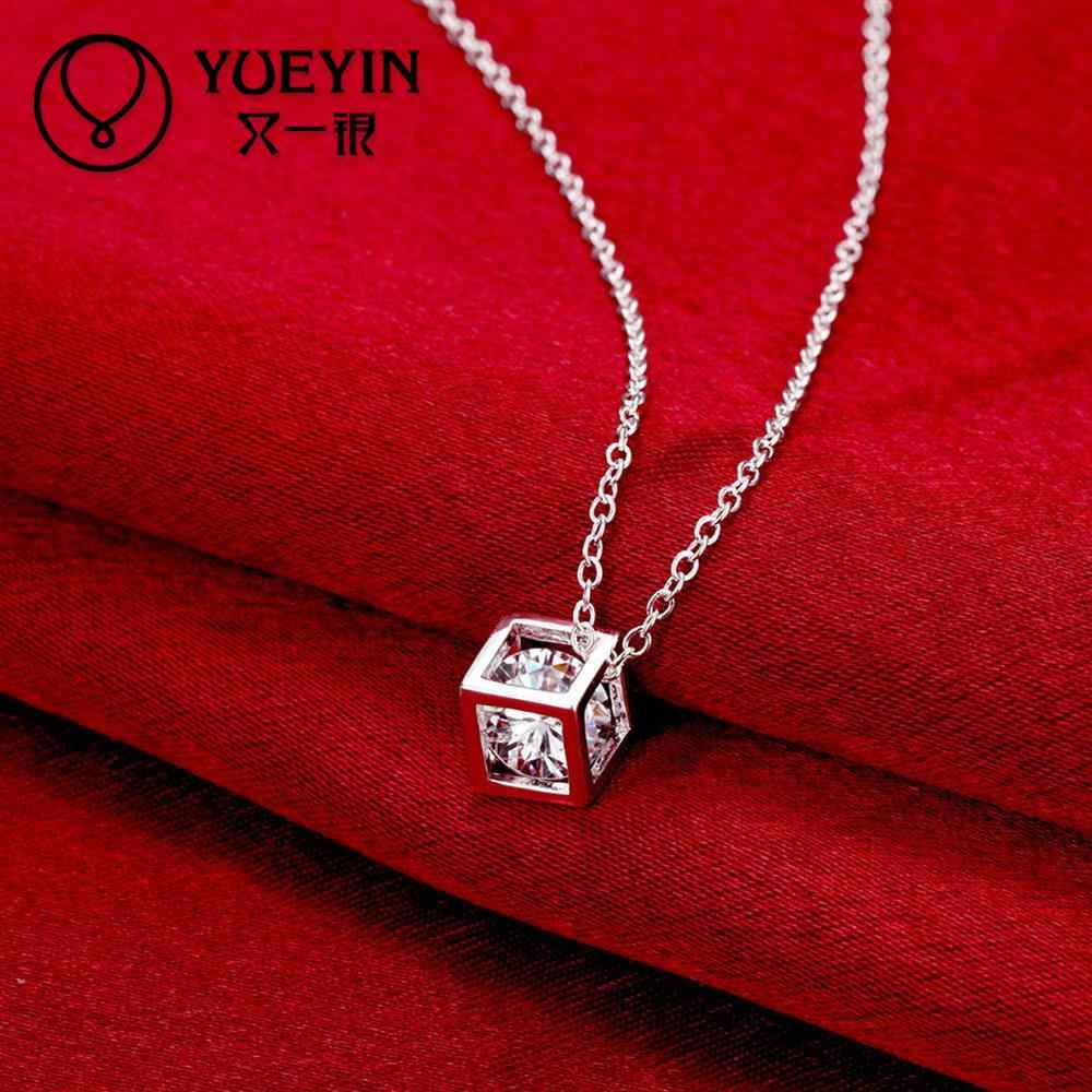 Silver plated Necklace pendant charm chain crystal Necklace fashion jewelry Classic Colar Feminina Original designs
