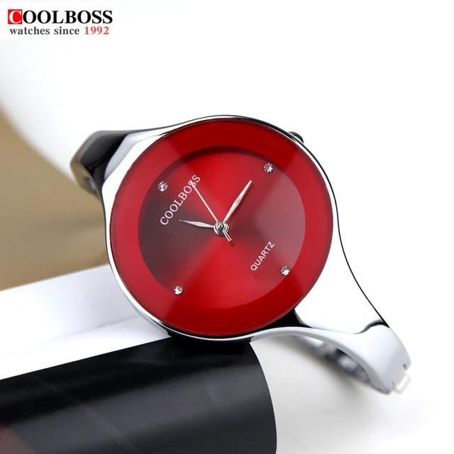 2e4b9b467dcf Новинка 2017 года часы Для женщин Coolboss Роскошные брендовые модные  Повседневное кварцевые уникальный стильный браслет спортивные