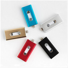 For Lightning flash drive 8gb 16gb 32gb Usb Pen Drive 6 Language Otg Flash iPhone 5/5s/6/6s Plus/ipad memory