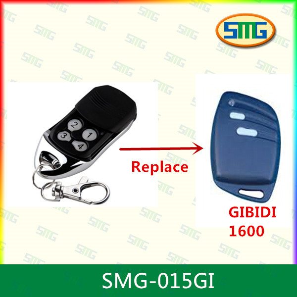 2piece free shipping Rolling code garage gate remote control replacement for GIBIDI handtransmitter 433mhz