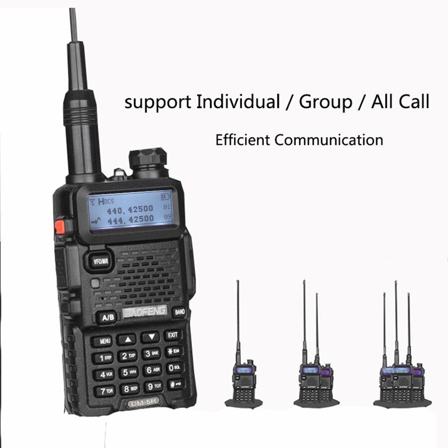 band digital 2 PCS Baofeng DM-5R Digital Walkie Talkie Ham CB VHF UHF DMR Radio Station Double Dual Band Transceiver Boafeng Scanner Amador (3)