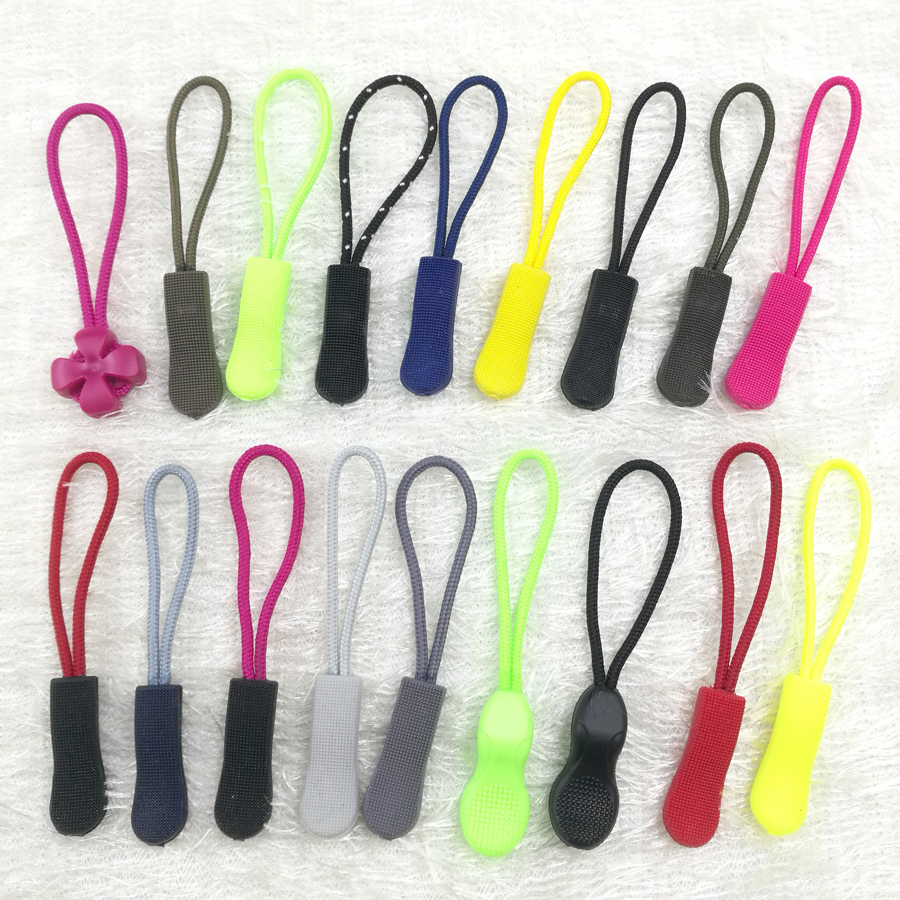 10pcs Zip Cord Zipper Pull Puller Fixer Bag Suitcase Backpack End Fit Rope Tag C