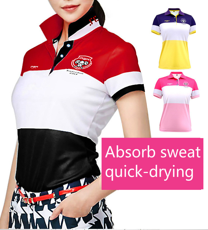 2017 summer Golf dress ladies Korean version Golf color short sleeved T shirt breathable elasticity marulong s0002 women s fashionable flower pattern short sleeved nightdress green multi color