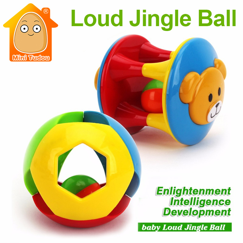 MiniTudou Educational Baby Toys Fun Little Loud Jingle Ball Develop Intelligence Train Grasping Ability Toy For Toddler Toys