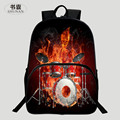 HENGFEI Brand Popular Polyester 16-Inch Printing Black Cartoon Teenager School Backpacks for Children Schoolbag Kids School Bags