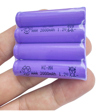 8PCS /LOT JNKXIXI Free Shipping aaa Rechargeable Batteries 2000mAh Ni-MH Rechargeable AAA Battery