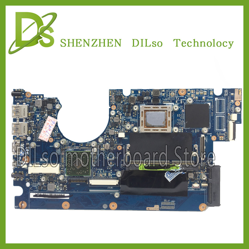 все цены на For ASUS U38DT laptop motherboard new motherboard rev2.1 2G RAM A8-4555M without video card 100% tested motherboard онлайн