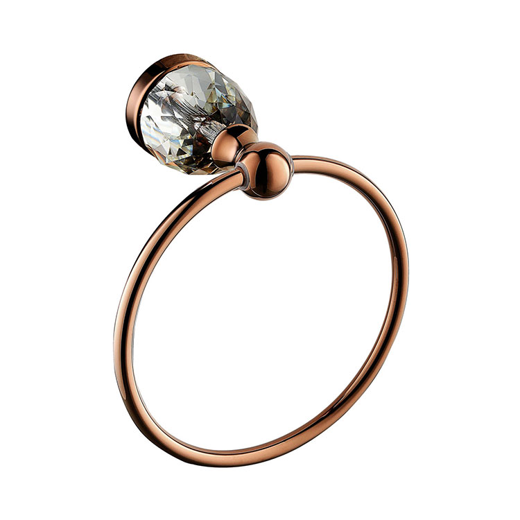 ФОТО Free Shipping Towel Ring Solid Brass Copper Rose gold  Finished Bathroom Accessories Products ,Towel Holder,Towel bar