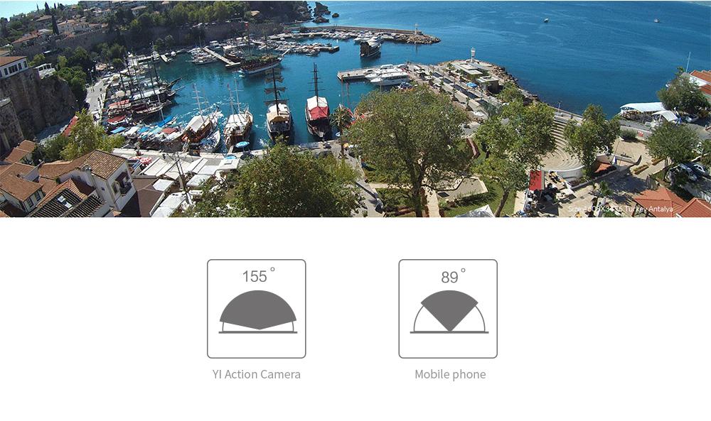 YI Action Camera 1080P Lime Green White Black 16MP Full HD 155 degree Ultra-wide Angle Sports Mini Camera 3