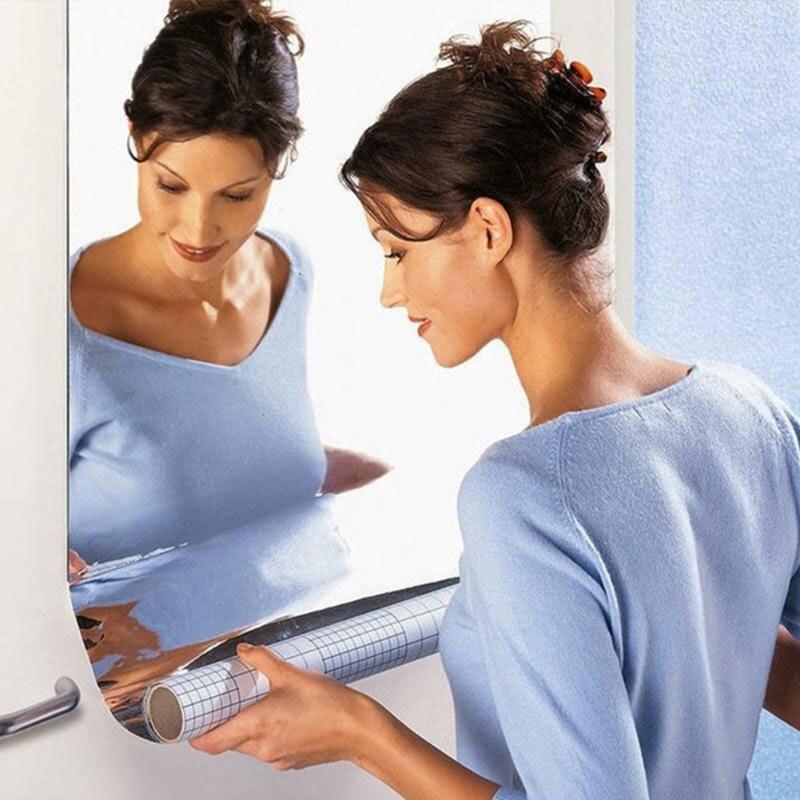 Зеркальные наклейки на стену акриловые обои Модные Акриловые 60X100 см Прямоугольный фон домашний декор ванная комната