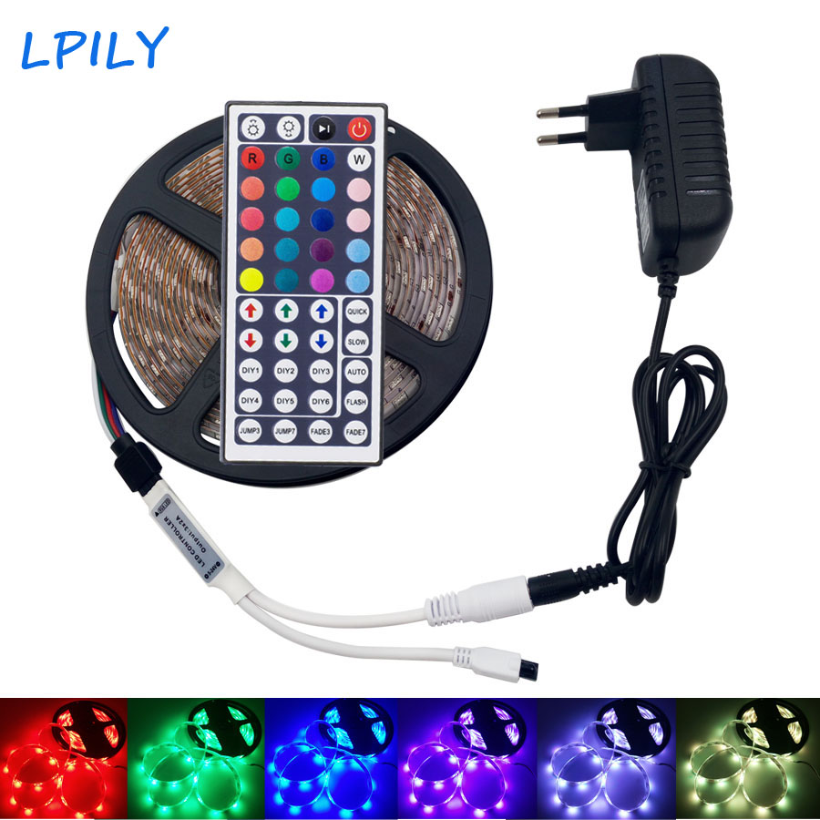 5050 RGB LED Strip Light 5M SMD RGB Diode LED Tape LED Ribbon Waterproof led strip light for home Christmas decoration new arrival 5m 150leds waterproof rgb led strip light ws2811 5050 smd dc12v flexible light led ribbon tape home decoration lamp