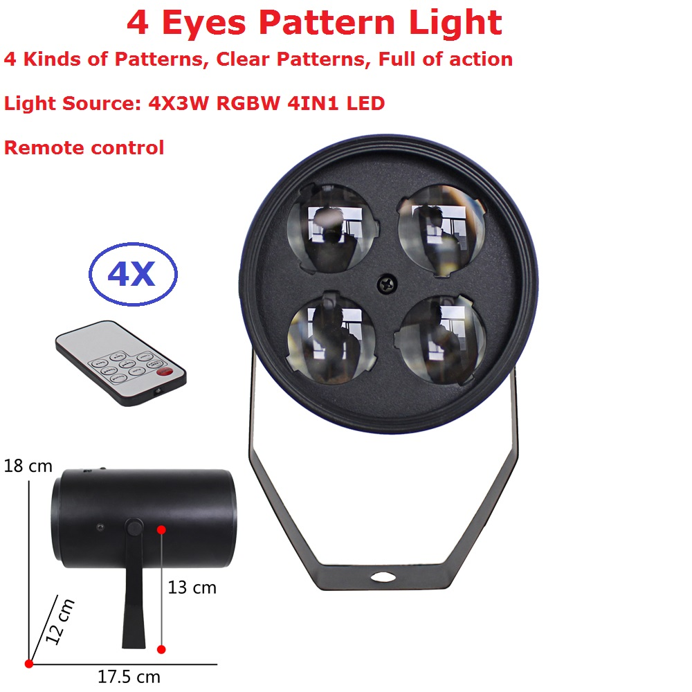 4Pack LED Par 4X3W RGBW Quad Color LED Stage Light Par Light With Remote Control For Disco DJ Projector Machine Party Decoration global elementary coursebook with eworkbook pack