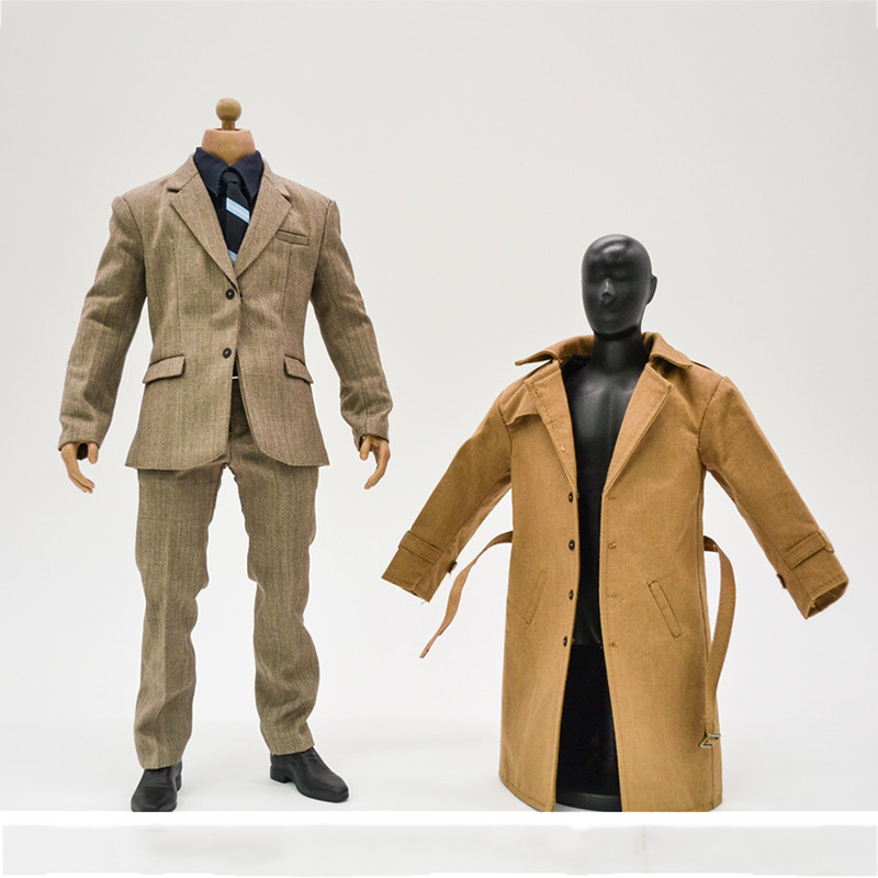 1/6 Scale Superman Windbreaker Suit Set & Leather Shoes for 12 inches Male Action Figure