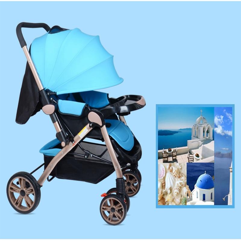 Envío libre a Rusia marco de aluminio Cochecitos de bebé fácil ...