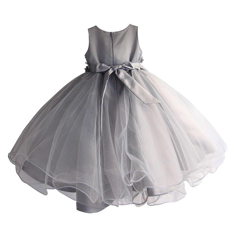 Robe de fleur de mariage de filles pour la robe de dentelle de fête d'anniversaire de princesse robe d'été de Costume de boutique d'enfants [Yelaumoky] - 5