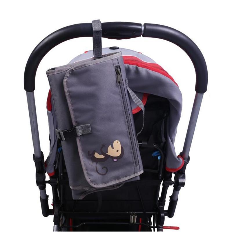 Baby Kids Waterproof Mattress Sheet Portable Foldable Bag Outdoor Travel Diaper Mat Changing Pads With <font><b>Storage</b></font> Pocket