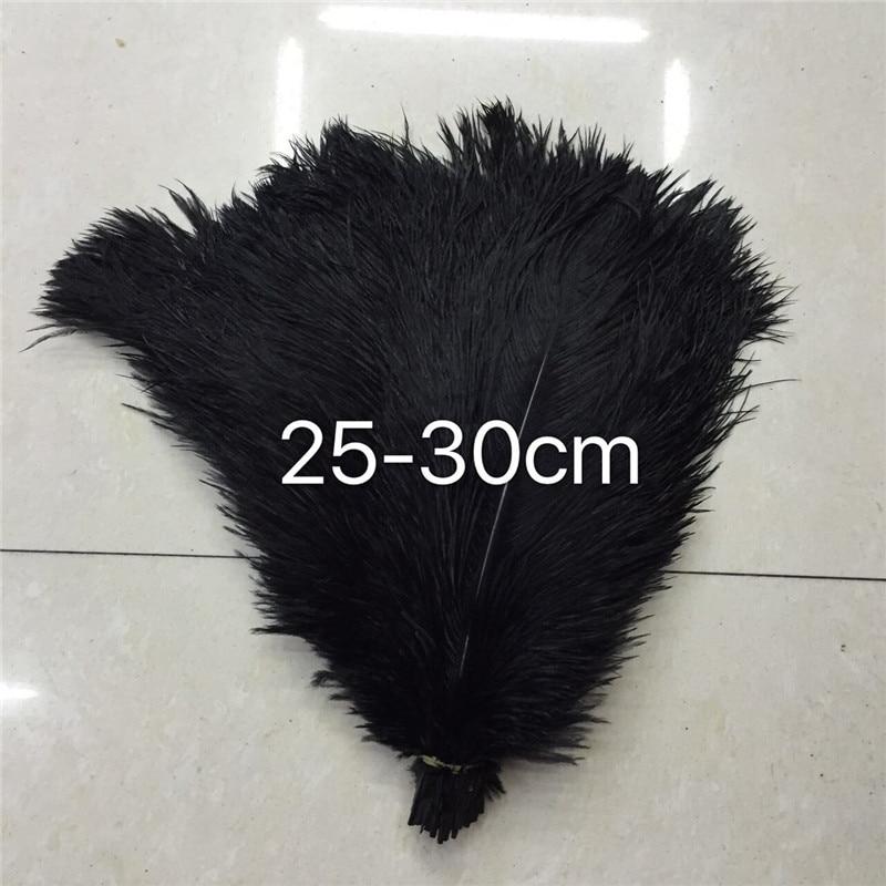 100 красивые 10 до 12 дюйм(ов) (от 25 до 30 см) страуса волосы окрашенные черный, используется для украшения аксессуары головной убор пряжка