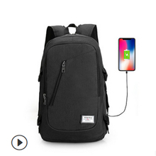 Unisex Design Men's And Women's Anti-theft Laptop Backpack USB Charging Business Bag OL Style Appliques Backpacks