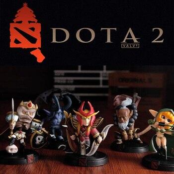 цена на WOW DOTA 2 Game Figure Kunkka Lina Pudge Queen Tidehunter CM FV PVC Action Figures Collection dota2 Toys