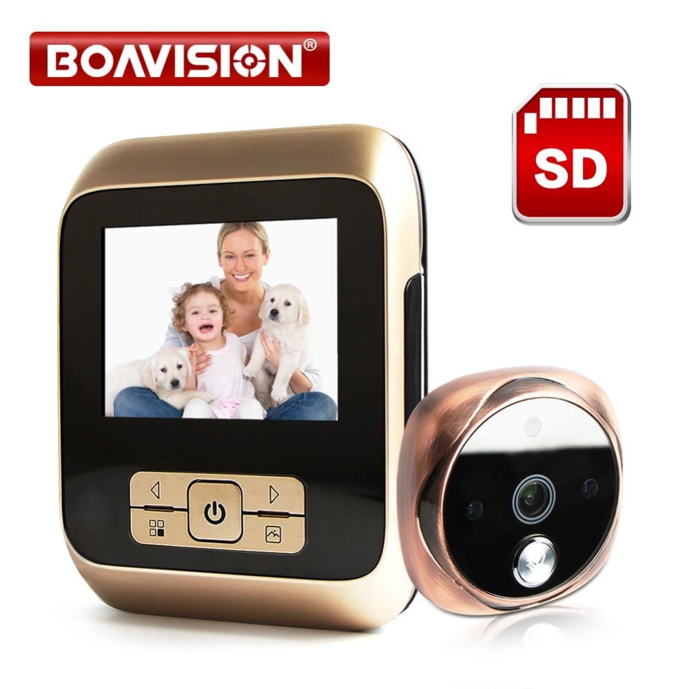 Peephole Door Camera 3 0 Inch Color Screen With Door Bell LED Lights Electronic Doorbell Door