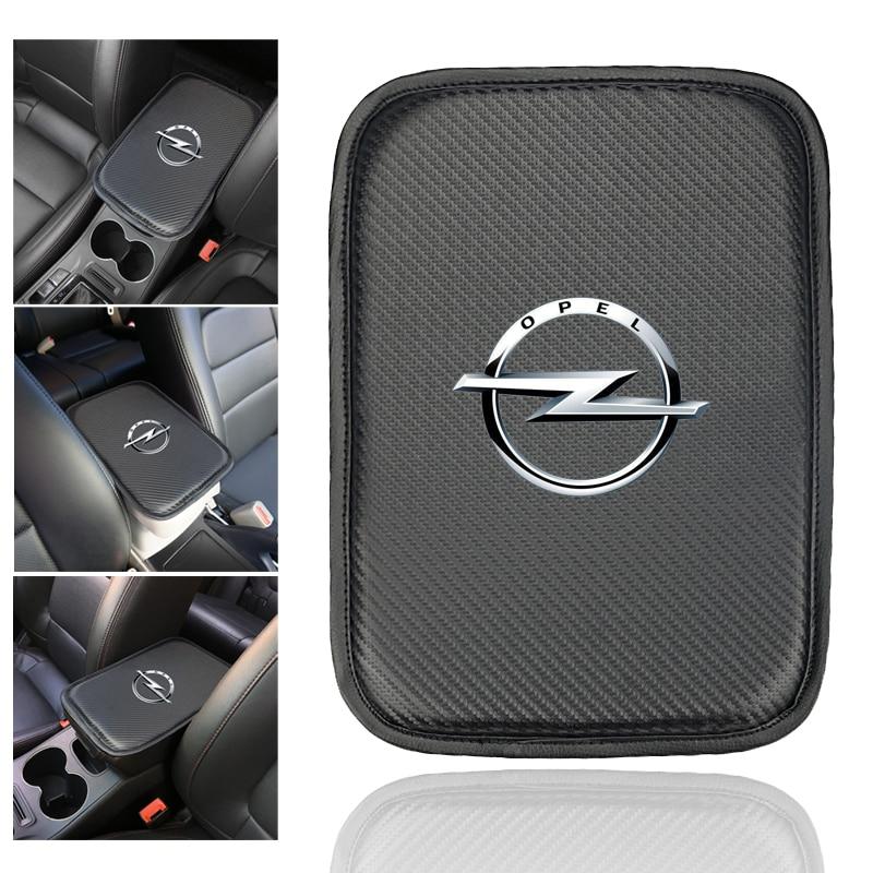 Car Console Box Armrest Pad Protective Mat Cover For OPEL Corsa Insignia Astra Antara Meriva Zafira Auto Accessories