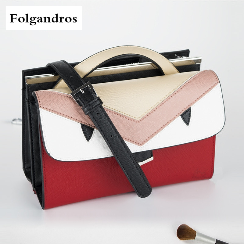 Fashion Split Leather Shoulder Crossbody Bags Monster Designer Luxury Handbag Patchwork Women Bag Famous Brand Purse and Handbag fashion casual michael handbag luxury louis women messenger bag famous brand designer leather crossbody classic bolsas femininas