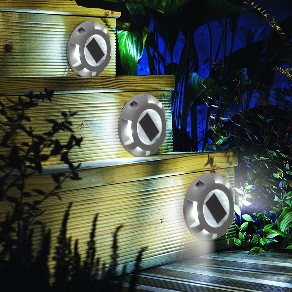 Солнечный палубный светильник s подъездная дорожка док-станция светодиодный светильник Открытый водонепроницаемый дорожный маркеры для ступенчатой тротуарной лестницы сад наземная дорожка двор