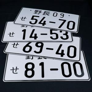 Image 3 - JDM Japanese Style License Plate Aluminum License Number Car Decoration License PlateFor Universal Car