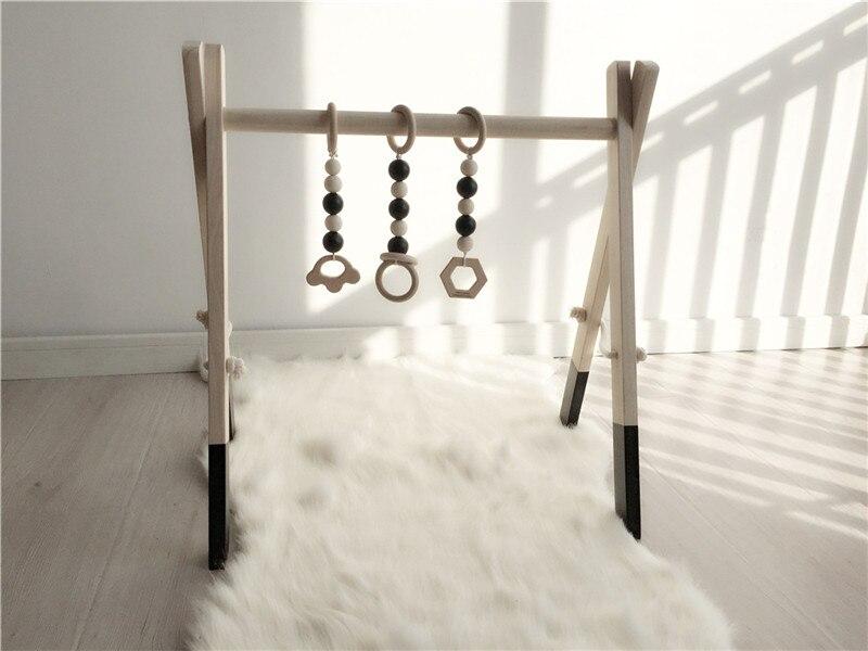 Chaud en bois bébé Gym avec accessoires et jouer Gym jouet pépinière décor sensoriel jouet accessoires enfant chambre décor photographie accessoires