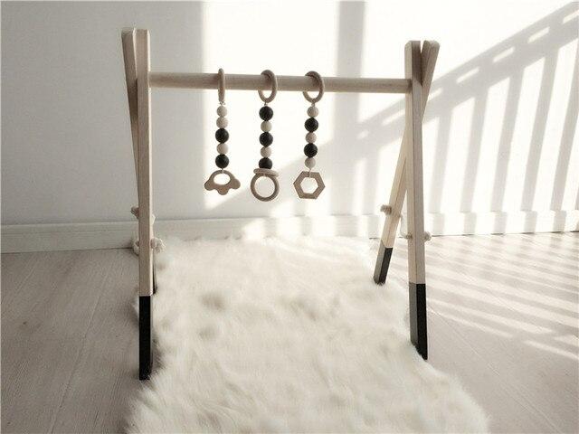 Hot houten baby gym met accessoires & play gym speelgoed nursery